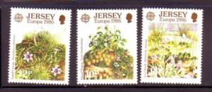 Jersey Sc 396-8 1986 Europa stamp set mint NH