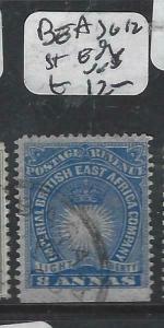BRITISH EAST AFRICA   (P3105B)  8A  ARMS ST EDGE  SG  12   VFU