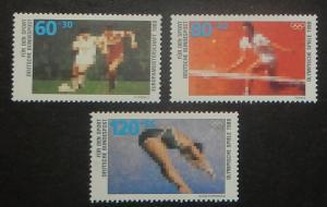 Germany B663-65. 1988 Sports, NH