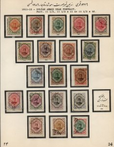 PERSIA/IRAN: 1911-1913 Examples - Ex-Old Time Collection - Album Page (39611)