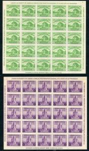 US Scott #730-731 Chicago 1¢/3¢ Imperforate Farley Souvenir Sheets MNH