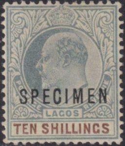 Lagos 1905-1906 SC 59 MLH Specimen Ovpt
