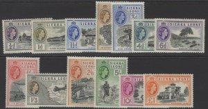SIERRA LEONE SG210/22 1956-61 DEFINITIVE SET MNH(10/= IS MTD)