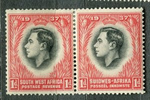 SOUTH WEST AFRICA; 1930s early pictorial issue fine Mint hinged 1d. Pair