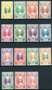 KELANTAN-1937-40  A mounted mint set to $5 Sg 40-54