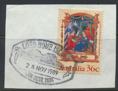 Australia SG 1225 SC#1159  Used  on piece with Lord Howe Island cancel Christmas