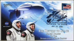 20-104 -2, 2020, ISS Mission Control, Pictorial Postmark, Event Cover,Houston TX