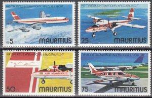Mauritius, Sc 440-443, MNH, 1977, Air Mauritius