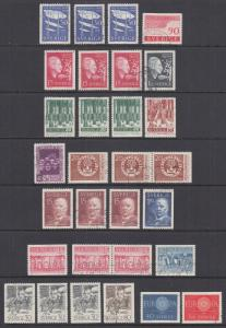 Sweden Sc 538/609 used 1952-1962 issues, 59 stamps mostly cplt sets w/ varieties