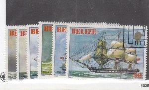 BELIZE (MK6325) # 609-614  VF-USED VARc,$ 1982  SAILING SHIPS STAMPS CV $50