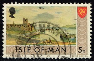 Isle of Man #20 Peel - Castle and Shore; Used (0.25) (2Stars)