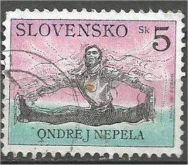 SLOVAKIA, 1997, used 5k, Skater, Scott 289