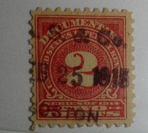 Scott R208 2 Cent Internal Revenue Documentary Stamp