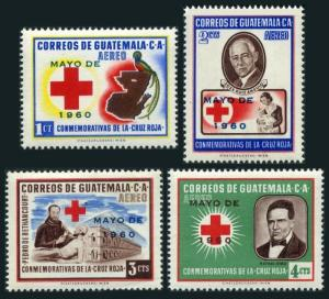 Guatemala C251-C254,MNH.Michel 659-662. Red Cross overprinted:MAYO DE 1960.