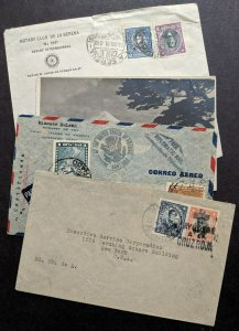 EDW1949SELL : CHILE 3 covers & 1 Picture Post card including Red Cross cancel