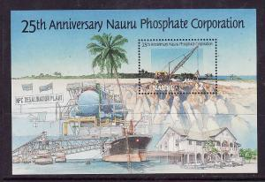 Nauru-Sc#424-Unused NH sheet-Mining Phosphate-1995-