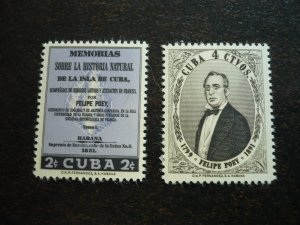 Stamps - Cuba - Scott#608-609, Mint Hinged Set of 2 Stamps