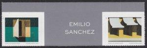 US 5594 5597 Emilio Sanchez forever vert gutter pair A (2 stamps) MNH 2021