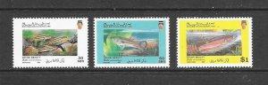 FISH - BRUNEI #430-2  MNH
