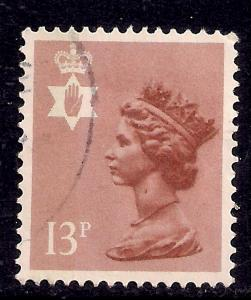Northern Ireland GB 1984 QE2 13p Pale Chestnut used SG NI 37 ( J440 )