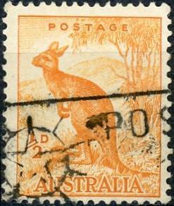 Australia #166 ½p Kangaroo Used/H