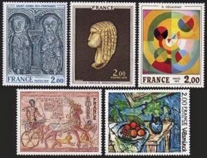 France 1464-1468,MNH. Paintings-1976.M.de Vlaminck,R.Delaunay,Lintel,Ramses II,