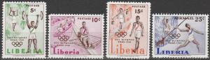 Liberia #390-92, C126  MNH (S7129)