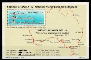 Nauru 1982 Stamp Exhibition Brisbane M/s