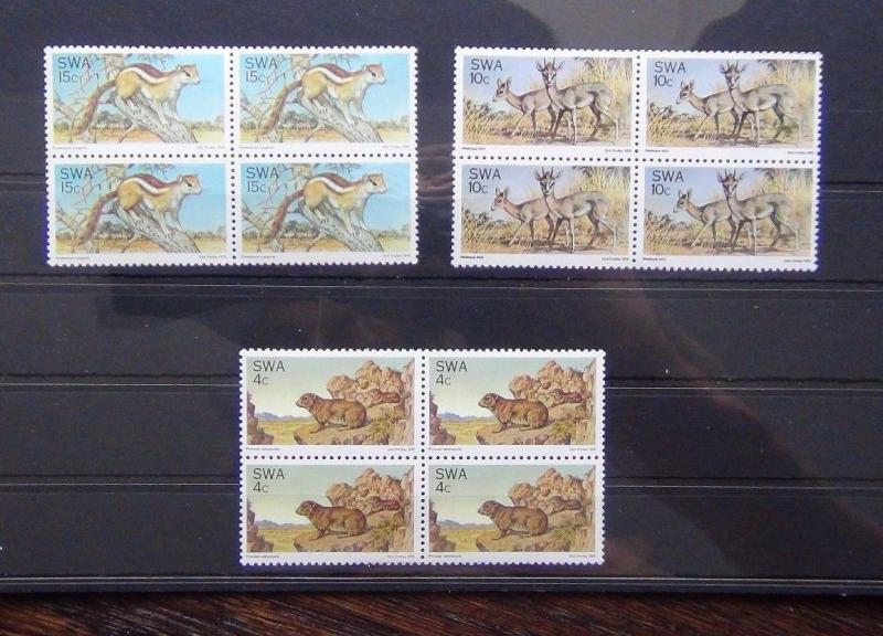 South West Africa 1976 Fauna Conservation in block x 4 MNH