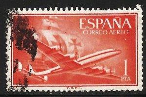 Spain Air Mail 1955 Scott# C150 Used