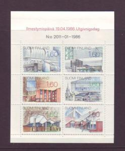 Finland Sc 737 1986 Buildings stamp booklet mint NH