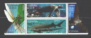 Spain. 2015. 4992-95. Fauna of spain. MNH.