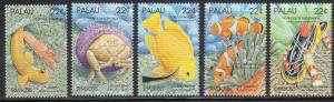 Palau 178-82 - Mint-NH - Symbiotic Marine Species (cv $3.25)