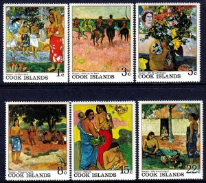 COOK IS - 1967 - PAINTINGS - PAUL GAUGUIN - ARTIST OF POLYNESIA - MINT MNH SET!
