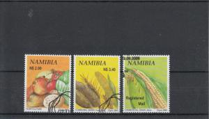 Namibia 2005 CTO Crop Production SG#1017-9 3v Vegetables Pearl Millet Maize Used