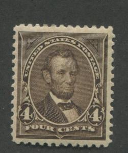 1894 US Stamp #254 4c Mint Very Fine Disturbed Original Gum Catalogue Value $250