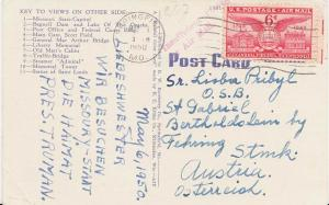 Airmail Issues 6c Alexandria, Virginia 1950 Springfield, Mo. PPC Airmail to ...