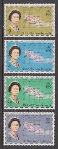Solomon Islands Scott #264-267 MNH