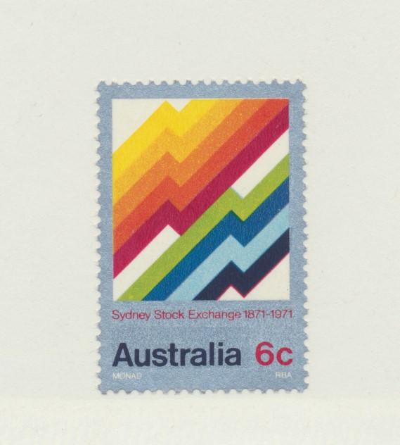 Australia Scott #497, Mint Never Hinged MNH, Sydney Stock Exchange Issue From...