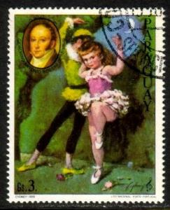 Painting of Ballerinas by Gioacchino Rossini, Paraguay stamp SC#1957a used