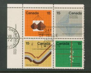 Canada SG 741 - 744  VFU  se-tenant margin block