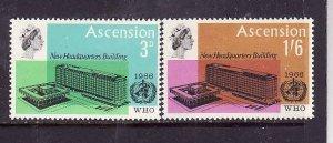 Ascension-Sc#102-3-unused NH set-id3-QEII-WHO-Omnibus-1960-