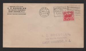 $US Sc#629 FDC Roessler cachet Battle White Plains 1926