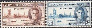 Pitcairn Islands #9-10  MNH