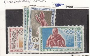 J26273  jlstamps 1968 burkina faso set mnh #c54-7 olympics