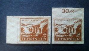 Germany Thuringen mi 115 a+b **