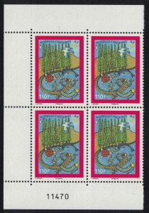New Caledonia Christmas Symbols of New Caledonia Block of 4 Number SG#1455
