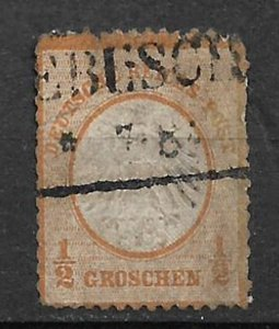 COLLECTION LOT #409 GERMANY # 3 1872 CV=$45 THIN SPACE FILLER