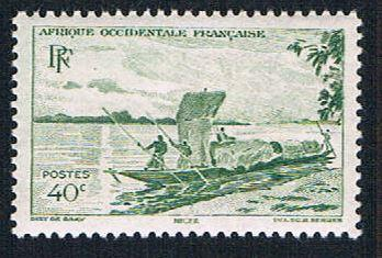 French West Africa 38 MLH Trading Canoe (BP1005)