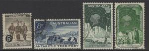 AUSTRALIAN ANTARCTIC TERR SG2/5 1959 DEFINITIVE SET FINE USED